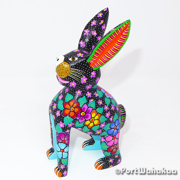 Pitchy Rabbit Oaxacan Carving Artist - Maria Jimenez Ojeda Port Wahakaa