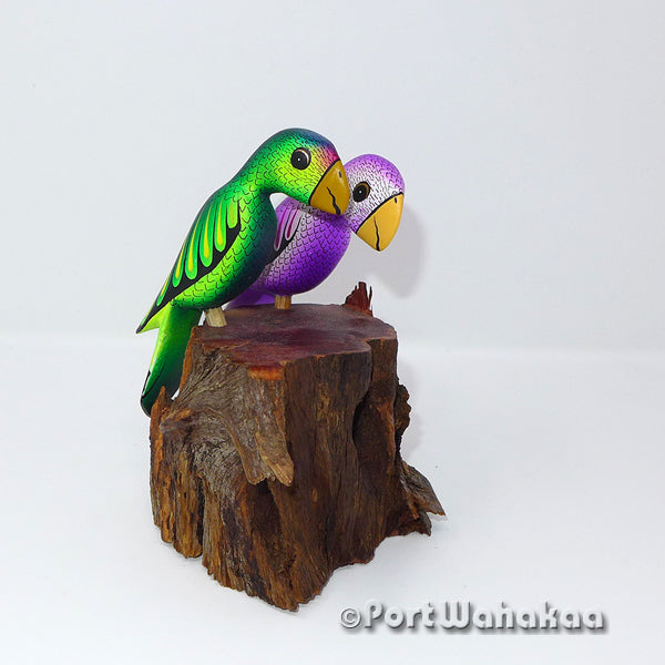 Emerald Amethyst Love Birds - Port Wahakaa