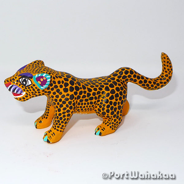 Southwest Jaguar Oaxacan Carving Port Wahakaa Port Wahakaa Arrazola, Carving Small, Cat, Jaguar, Panthera