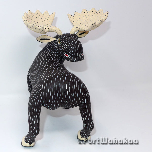 Mega Moose Playas Oaxacan Carving Artist - Arial Playas Port Wahakaa Carving Large, Deer, Moose, Playas, Venado