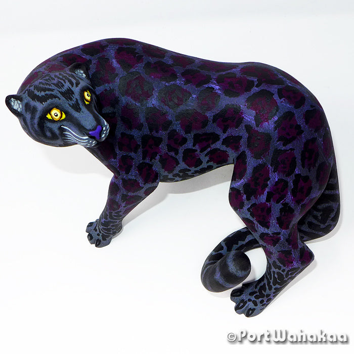 Black Jaguar Oaxacan Carving Artist - Eleazar Morales Port Wahakaa