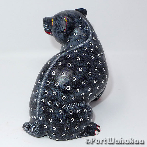 Supernatural Spirit Bear Oaxacan Carving Artist - Victor Xuana Port Wahakaa Bear, Carving Medium, Oso, San Martin Tilcajete, Xuana