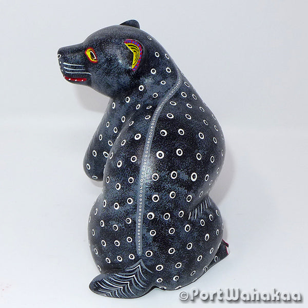Black Bear Spotted Wood Carved