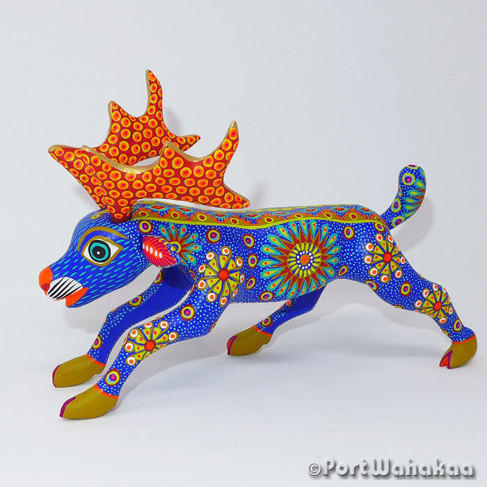 Astral Caribou Oaxacan Carving Artist - Yesenia Castro Port Wahakaa Arrazola, Carving Medium, Deer, Venado
