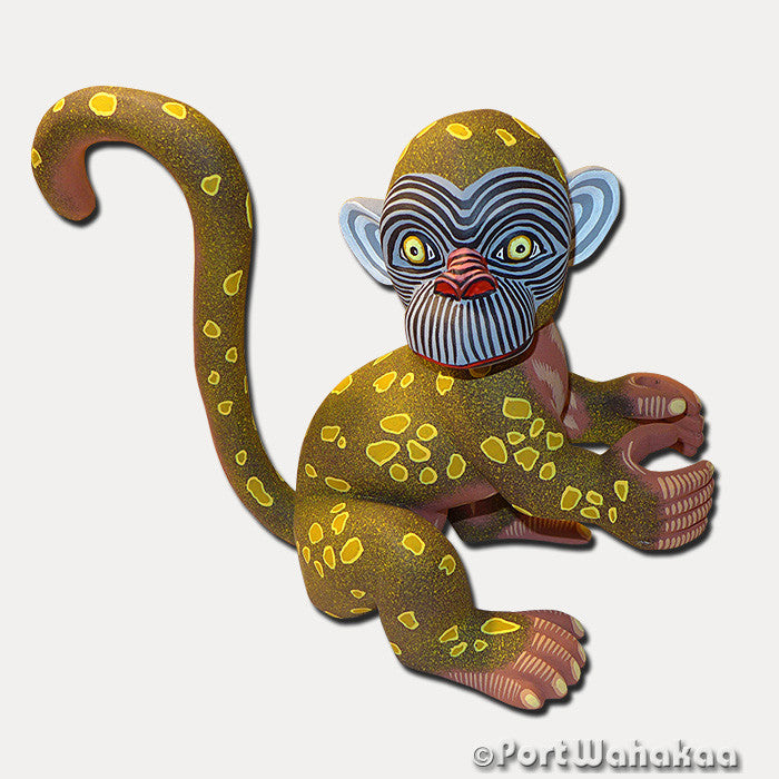 Mighty Monkey Oaxacan Carving Artist - Eleazar Morales Port Wahakaa Carving Large, Chango, Monkey