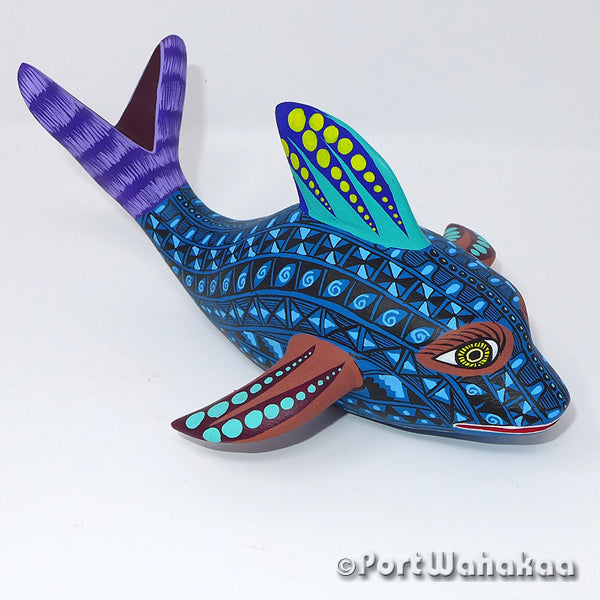 Dolphin Huatulco - Oaxaca Wood Carving Alebrijes Animal Mexican Copal