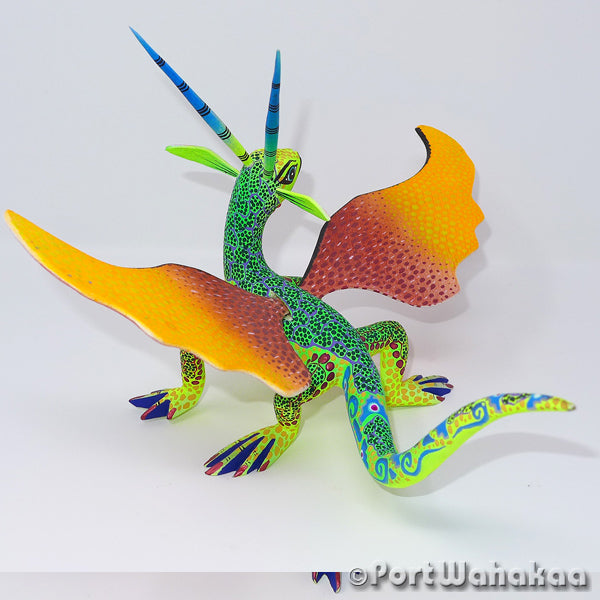 Iguanodon Dragon - Oaxaca Wood Carving Alebrijes Animal Mexican Copal