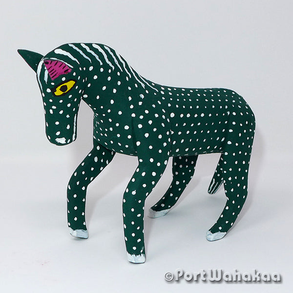 Jade Green Horse Oaxacan Carving Artist - Calixto Santiago Port Wahakaa Burro, Caballo, Carving Medium, Donkey, Horse, La Union, Mule
