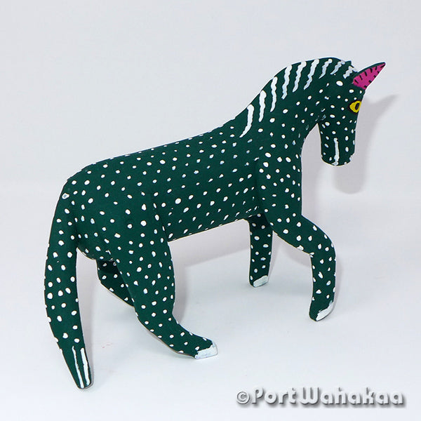 Jade Green Horse - Oaxaca Wood Carving Alebrijes Animal Mexican Copal