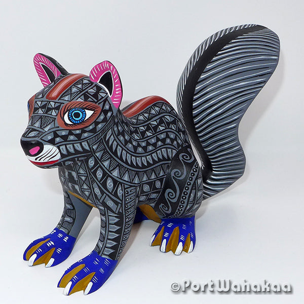 Eastern Grey Squirrel - Oaxaca Wood Carving Alebrijes Animal Mexican Copal