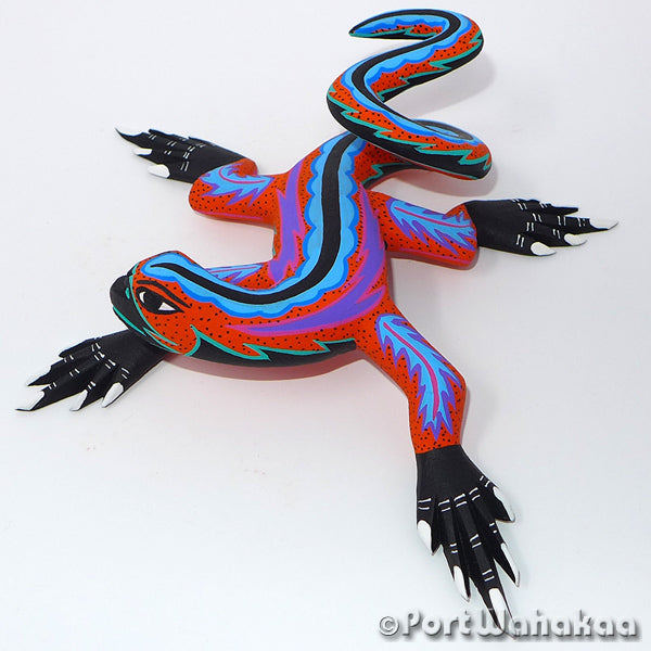 Tangerine Dream Lizard Oaxacan Carving Artist - Mauricio Ramirez Port Wahakaa Lizard, Lizards, Reptile