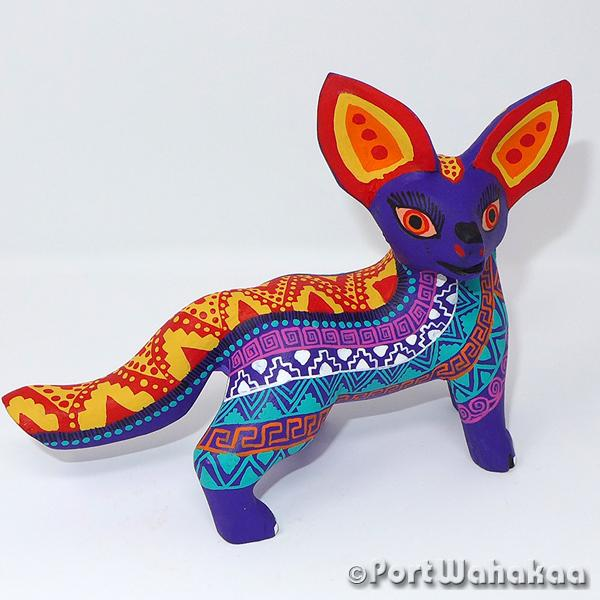 Mythic Matrix Fox - Oaxaca Wood Carving Alebrijes Animal Mexican Copal