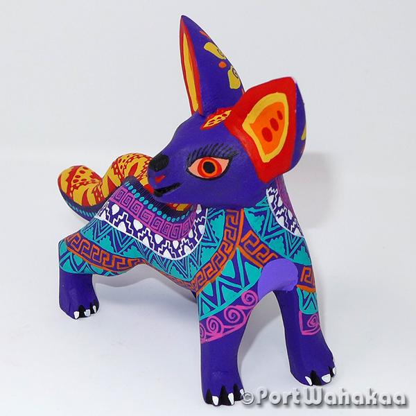 Slipstream Fox Oaxacan Carving Artist - Margarito Rodriguez Port Wahakaa Arrazola, Carving Small, Coyote, Fox, Lobo, Zorro
