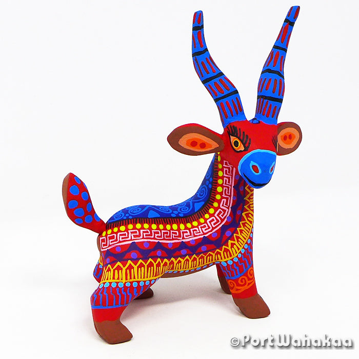 Resolute Cabra Oaxacan Carving Artist - Margarito Rodriguez Port Wahakaa Arrazola, Cabra, Carving Small, Chivo, Goat