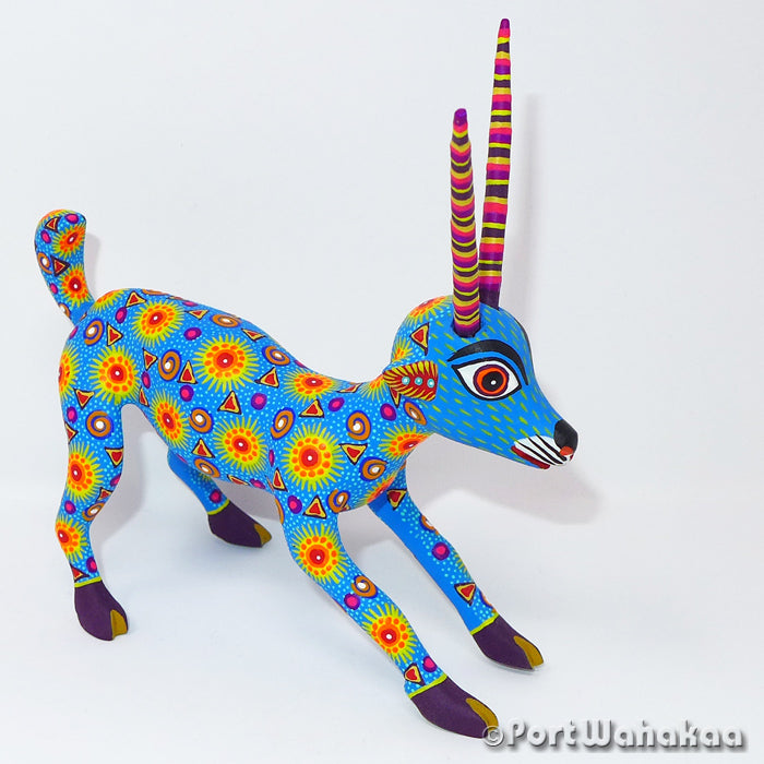 Afterglow Goat Oaxacan Carving Artist - Yesenia Castro Port Wahakaa Arrazola, Cabra, Carving Medium, Gazelle, Goat