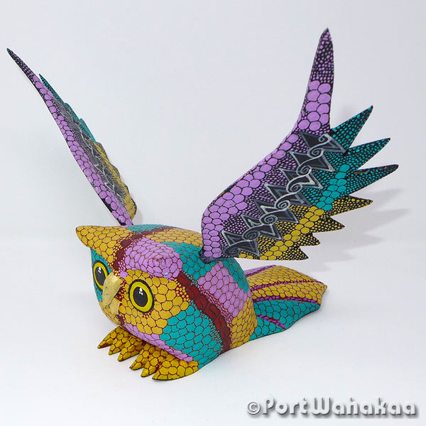 Gliding Owl Artist - Tribus Mixes Port Wahakaa Oaxacan Carving Mexico Folk Art