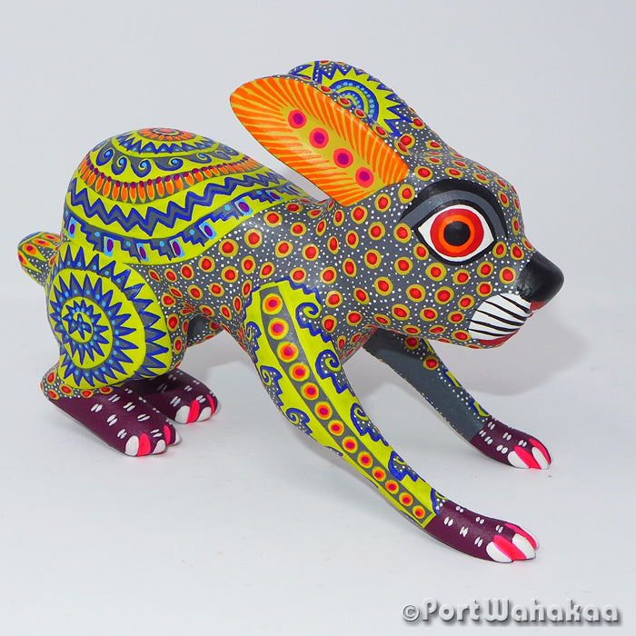Copacetic Conejo Oaxacan Carving Artist - Yesenia Castro Port Wahakaa Arrazola, Carving Medium, Conejo, Rabbit