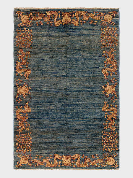 Mirtha Pakistani Oriental Hand Knotted Rugs Grey - Size 7'x10' - Oriental Rugs, fine, Houston, From Indian, Pakistan, Turkey, Persia