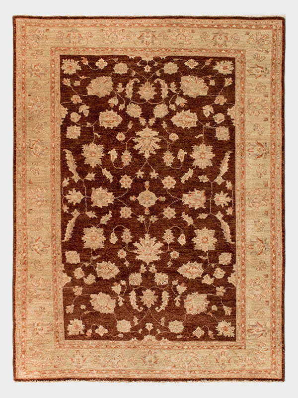 "7'x9' 7"" beige transitional rectangle wool area rug at parvizian"