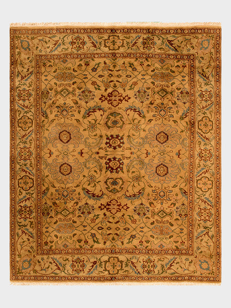 Estrella Indian Wool Rug with a Vintage Inspired pallette - Size 8'x10' - Oriental Rugs, fine, Houston, From Indian, Pakistan, Turkey, Persia