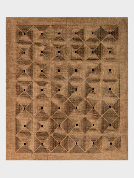 Vanda Pakistani Hand Knotted Rugs Brown - Size 8'x10' - Oriental Rugs, fine, Houston, From Indian, Pakistan, Turkey, Persia