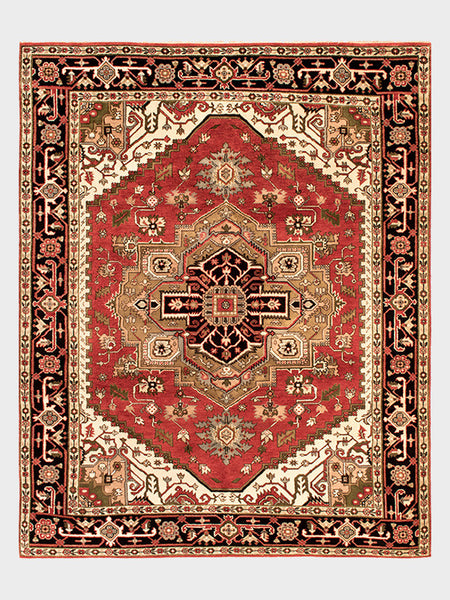 Emogene Indian Hand Knotted Rug - Size 8'x10' - Oriental Rugs, fine, Houston, From Indian, Pakistan, Turkey, Persia