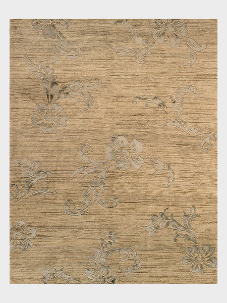 Deana Indian Oriental Hand Knotted Rugs Bellini Wash, Champagne, Steel Grey - Size 8'x10' - Oriental Rugs, fine, Houston, From Indian, Pakistan, Turkey, Persia