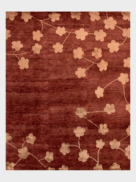 Patrica Indian Hand Knotted Rugs Ruby Red - Size 8'x10' - Oriental Rugs, fine, Houston, From Indian, Pakistan, Turkey, Persia
