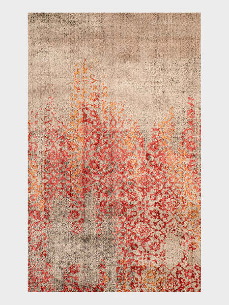 Lillia Oriental Rugs Ruby, Grapefruit and Sand - Size 3'x5' - Oriental Rugs, fine, Houston, From Indian, Pakistan, Turkey, Persia