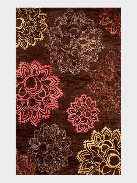 Irina Indian Hand Tuffed Rugs Brown - Size 5'x8' - Oriental Rugs, fine, Houston, From Indian, Pakistan, Turkey, Persia