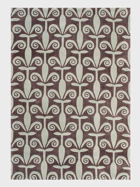 Beverley Chinese Hand Tufted Rug Desert Silver and Chestnut - Size 5'x8' - Oriental Rugs, fine, Houston, From Indian, Pakistan, Turkey, Persia