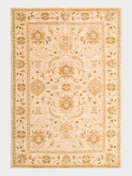 Elvina Egyption Rugs in soft Champagne and Taupe hues - Size 5'x8' - Oriental Rugs, fine, Houston, From Indian, Pakistan, Turkey, Persia