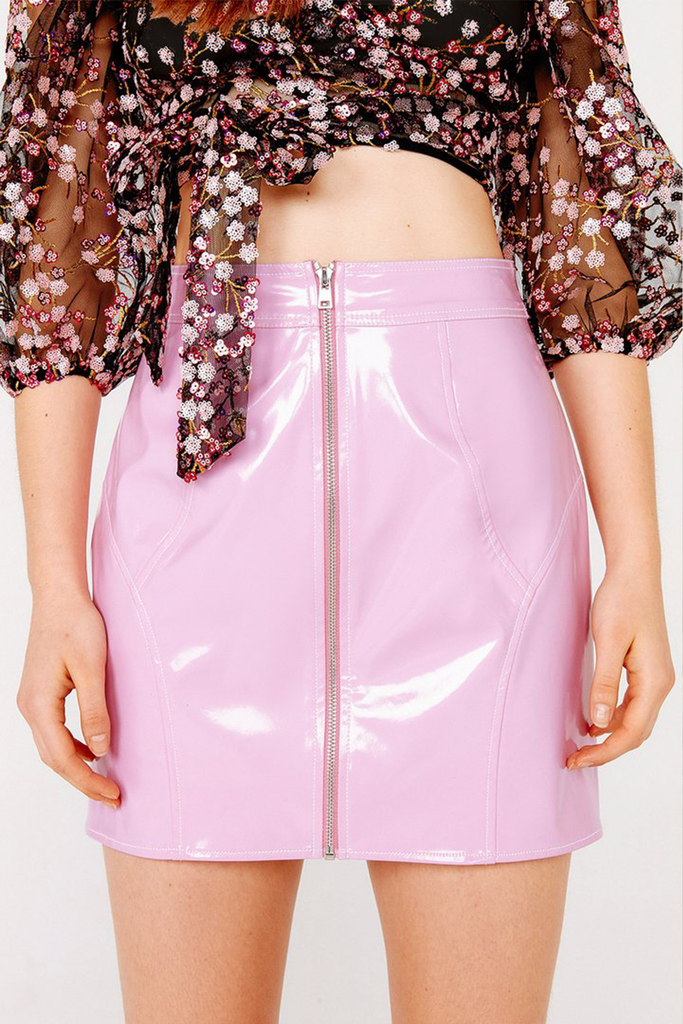 Billie Vinyl Mini Skirt - Sugarillashop.com