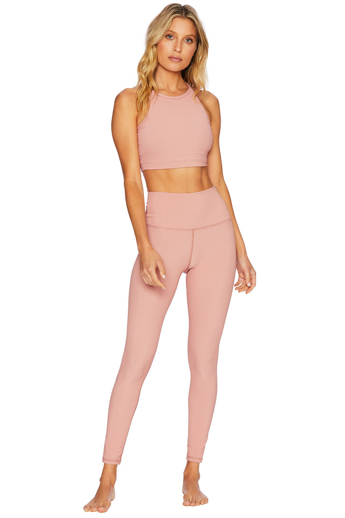 Ribbed Ayla Legging - Pink
