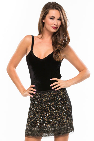 Beaded Glam Mini Skirt - Sugarillashop.com