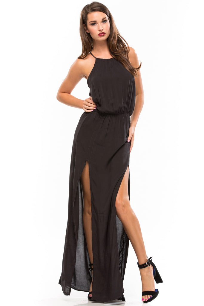 Double Slit Maxi Dress