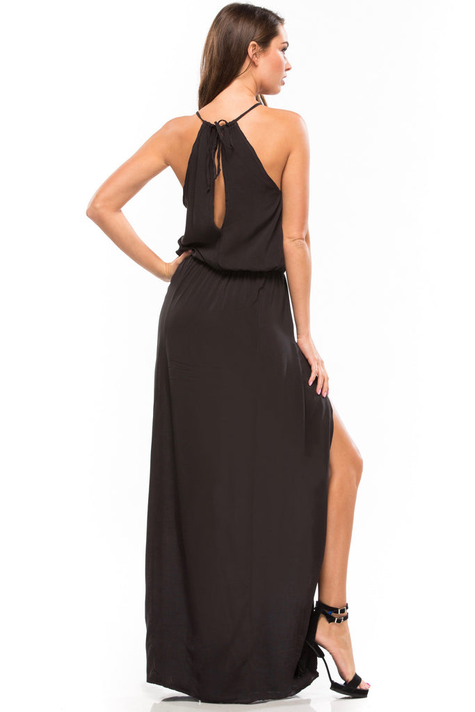 Double Slit Maxi Dress - Sugarillashop.com