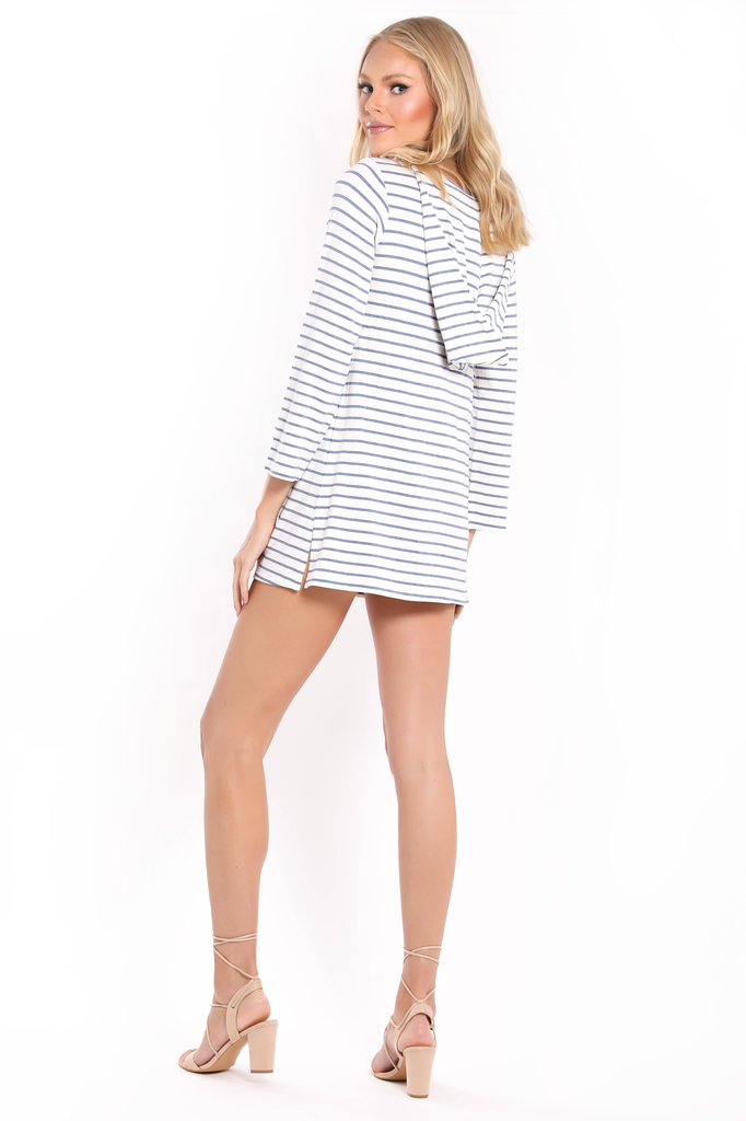 Hooded Terry Cover-Up Tunic Dress