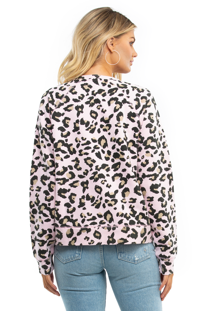 Blonde Pink Leopard Middle Sister Crew - Juicy Couture