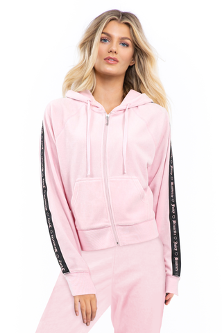 Velour Zip-Up Hoodie - Juicy Couture