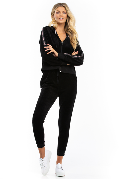 Black Velour Jogger - Juicy Couture