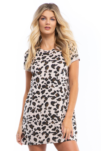 The Leopard Tee Dress