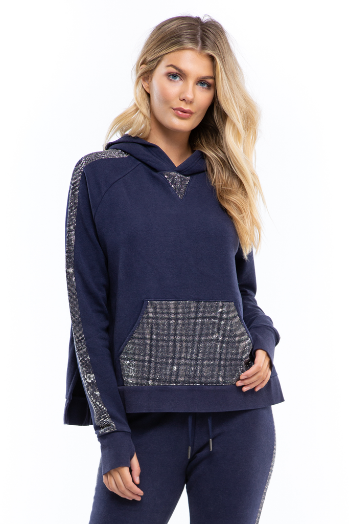 Blinged Out Pullover Hoodie