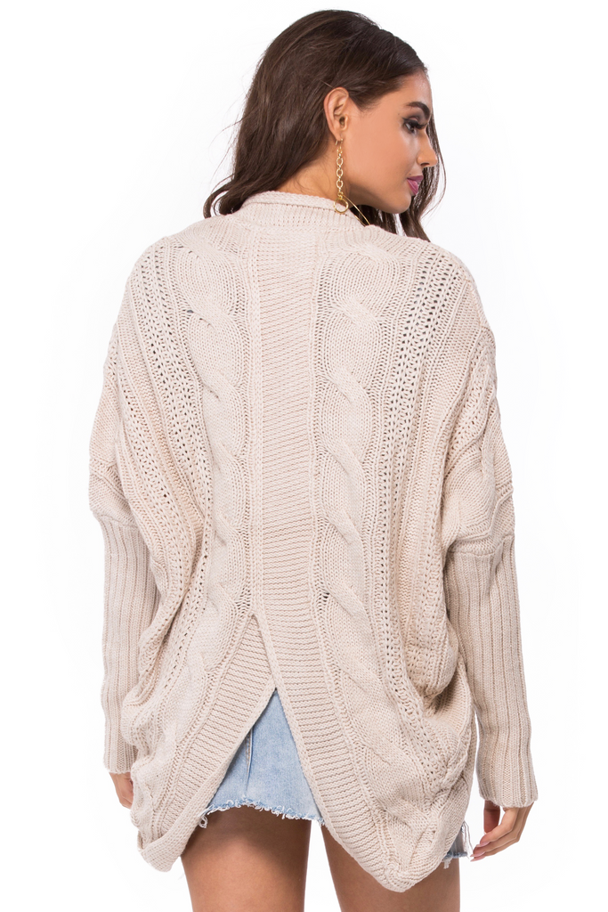 Cable Knit Sweater - Sugarillashop.com