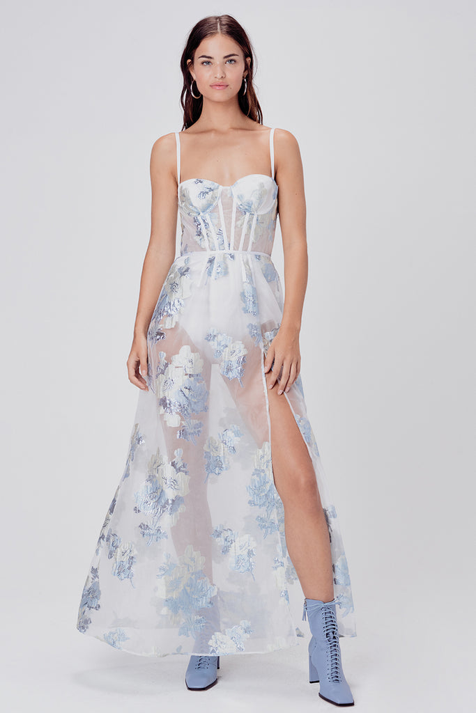 Cody Organza Jacquard Maxi Dress
