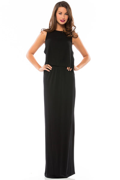 Basket Weave Back Maxi Dress - Sugarillashop.com