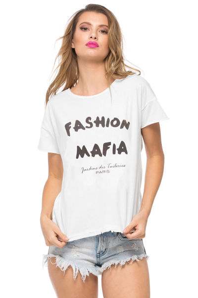 Fashion Mafia Lola Loose Tee - Sugarillashop.com