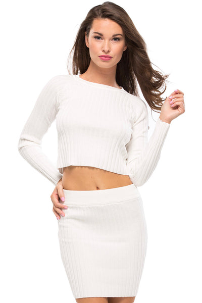 Back To Basics Cropped Sweater - Sugarillashop.com