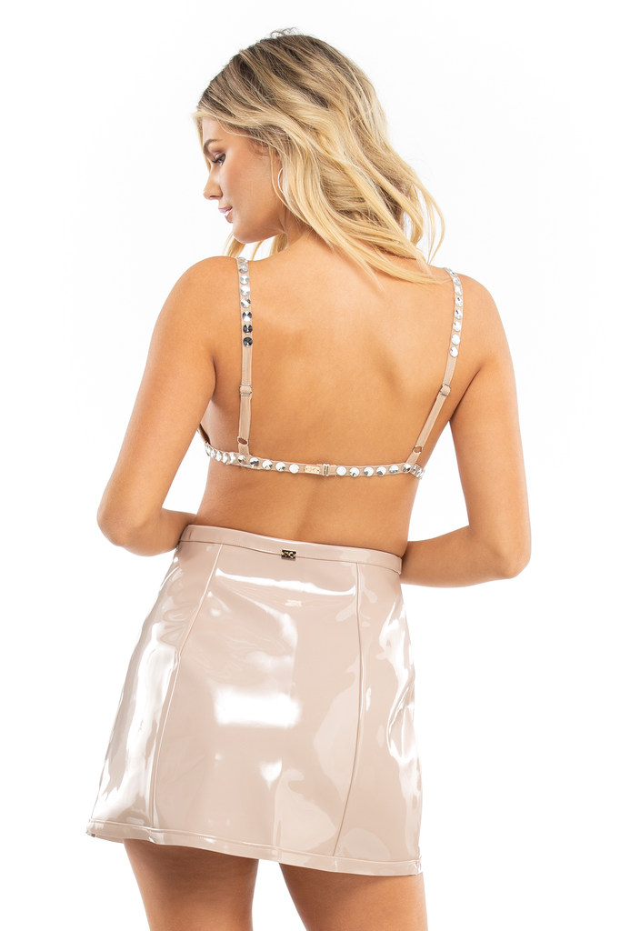 High Roller Latex High Waist Skirt