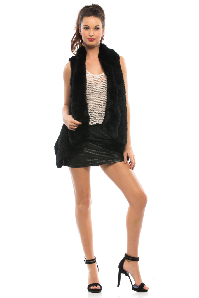 Indie Rabbit Fur Vest